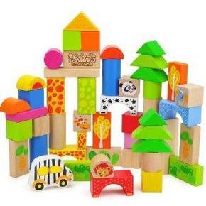 智立方 特宝儿 7123 森林动物乐园积木 益智玩具50粒 小熊拼图玩具