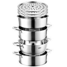 爱仕达 QL1526S 不锈钢复底三层蒸锅